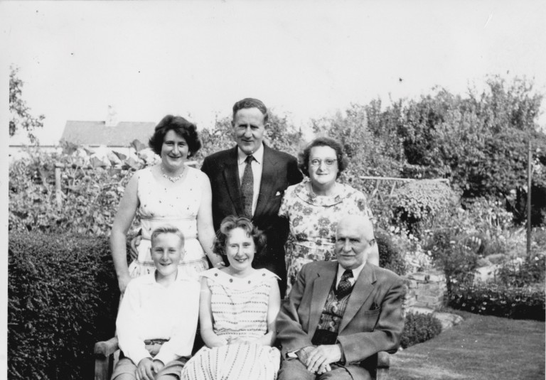 Fakes family in the garden at 58 Natal Road for silver wedding anniversary in 1959